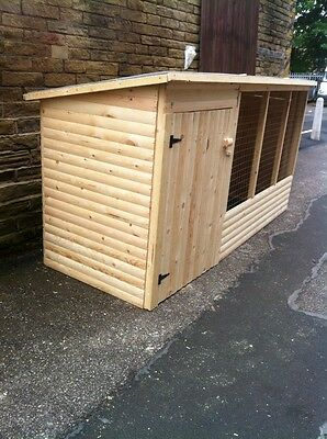 9ft WOODEN dog kennel and run