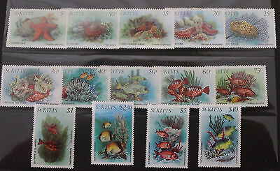 St Kitts 1984 Marine Wildlife Definative Set MNH SG143-156 14v Fish