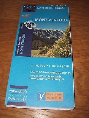 Sheet map Mont Ventoux area (3140ET) walking/cycling, new, Ordnance Survey type