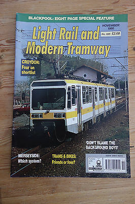 Light Rail and Modern Tramway Nov 95 no 695 (Strathclyde, Blackpool, Mexico)