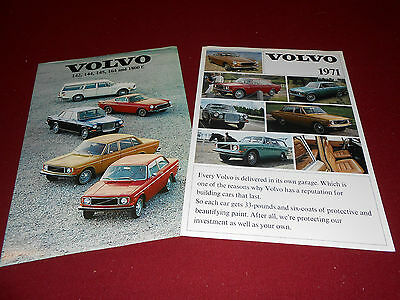 1971 VOLVO 1800 E, 164, 142, 144, 145 BROCHURE and 71 CATALOG: 2 for 1 Deal!