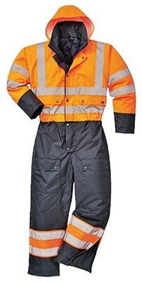 Portwest S485 Contrast Coverall Lined XXL Orange/Navy