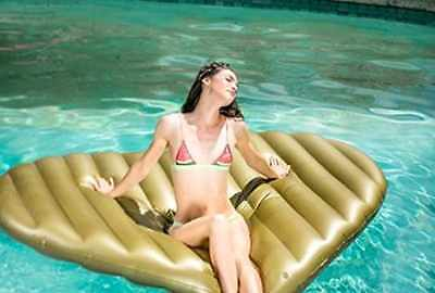 Pool Giant Inflatable Gold Heart Lilo,Gold Heart pool float Inflatable Pool Toy