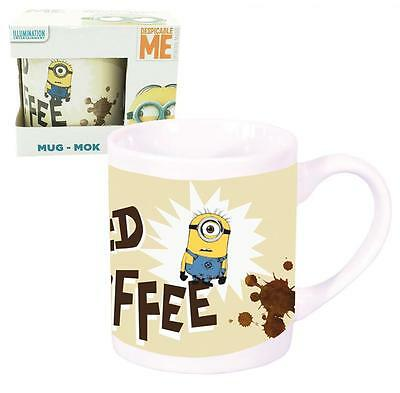 "Minions Tasse ""I NEED COFFEE"" Kaffeebecher, Tasse, ca 250ml NEU"
