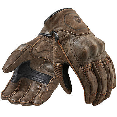 Rev'it! Palmer Brown Motorcycle Leather Retro Urban Classic Gloves Rev it Revit