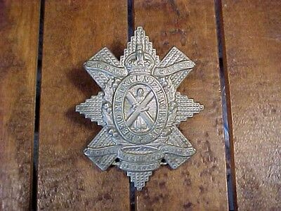 Wwii Era The Black Watch Royal Highland Regiment Of Canada Cap Badge