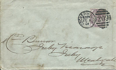 GB 1901 1d Lilac Cockermouth Castle Cover with Cockermouth 209 Duplex to Wiston