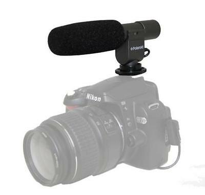 Polaroid Pro Video Condenser Shotgun Microphone For Digital SLR Camera/Camcorder
