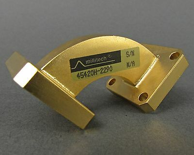 Millitech 45420H-2290 K-Band 90° Waveguide - WR42 / 18-26.5GHz *NOS Gold Plated*