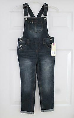 NEW Cherokee Girls Overalls Jeans Denim w Pockets Adjustable Straps Size S Small
