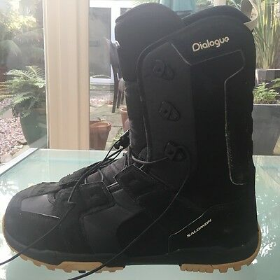 mens black snowboard boots size 12 Salomon never warn