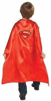 SUPERMAN CHILD DELUXE CAPE Super Hero Halloween Cosplay Fancy Dress Up