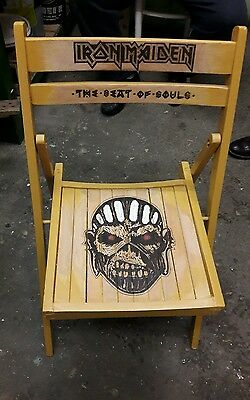 iron maiden folding chair