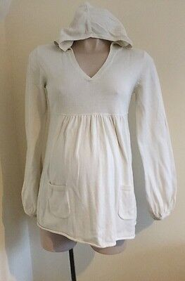 Mothercare Maternity Hooded Fine Knit Jumper Size 10