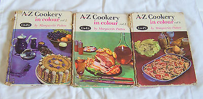 A to Z cookery in colour Marguerite Patten  x3, vol 2, 3, 4