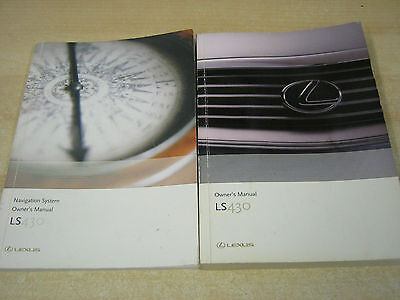 Lexus Ls 430  Handbook Owners Manual Inc Navigation