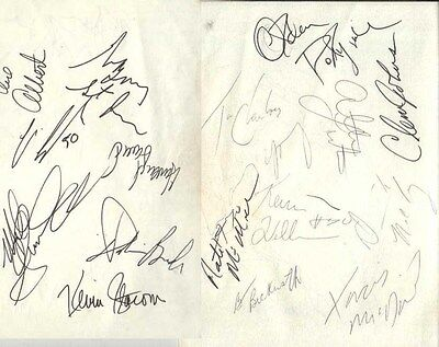1987 Seattle Supersonics Autographed Page by 13 w/ Tom Chambers Xavier McDaniel