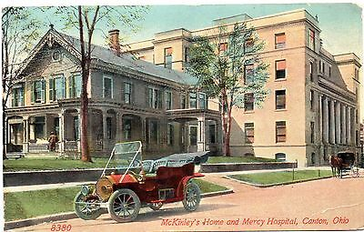 "CANTON OHIO 1914 ""McKINLEY'S HOME""--&--MERCY HOSPITAL--ACMEGRAPH CO. VIEW~~"