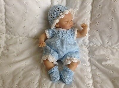 hand knitted dolls clothes fit 10-11ins reborn ashton drake,berenguer doll