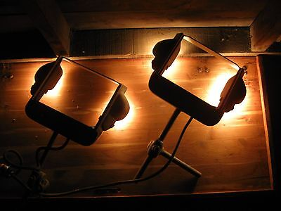 2 Matching Vintage Surty Machine Bench Industrial Lathe Equipment Lamps Chicago
