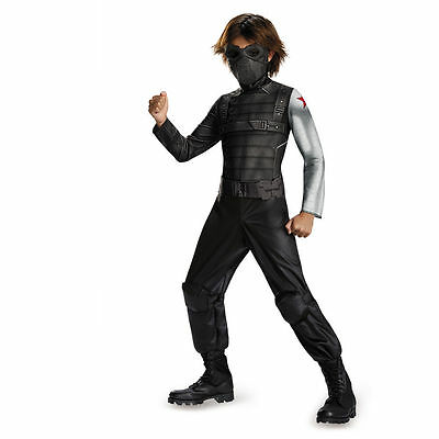 CAPTAIN AMERICA WINTER SOLDIER CHILD COSTUME Halloween Cosplay Fancy Dress