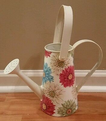 Country Wildflowers Watering Can Vase Bucket Farmhouse Flowers Planter