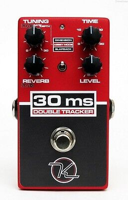 NEW KEELEY 30MS DOUBLE TRACKER EFFECTS PEDAL w/ FREE CABLE FREE US SHIPPING