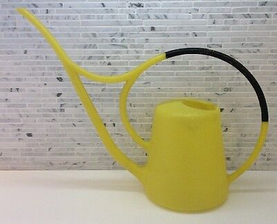 Vintage 70's Yellow Plastic Watering Can Mid Century Modern Bonsai Long Spout