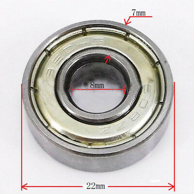 10 x 608ZZ Deep Groove Ball Bearings 8*22*7mm for 3D Printer 8mm Bore