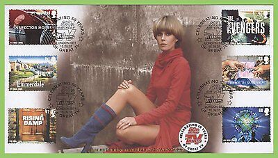 G.B. 2005 TV set on Buckingham First Day Cover, London SE1