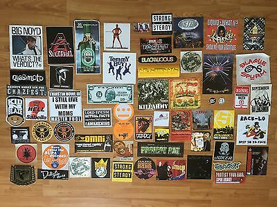 Huge COLLECTION of 60 RARE Hip Hop PROMO STICKERS LP CD Rap Various LOT