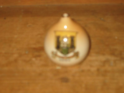 Crested Ware Coat Of Arms Latin Quote Under Cork Ireland Copy Pastry Pie Funnel