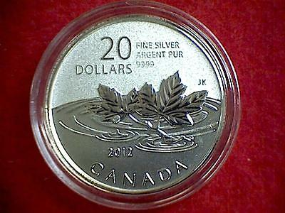 2012 Canada $20 for $20 Series Farewell To The Penny 7.96g .9999 Silver