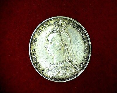 1887 Sixpence, Great Britain, KM # 759