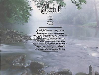 """Mountain Stream"" Name Meaning Prints Personalized (Inspirational)"