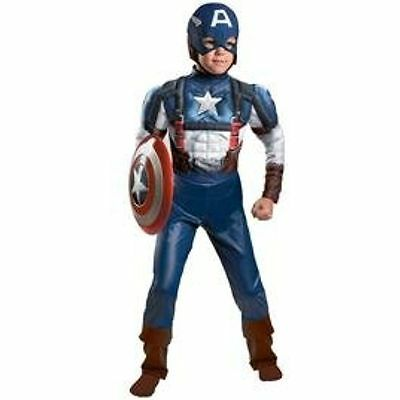 CAPTAIN AMERICA WINTER SOLDIER MUSCLE CHILD COSTUME Halloween Cosplay FancyDress