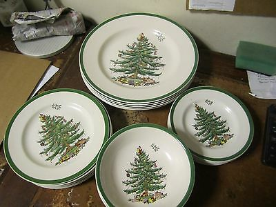 Spode Christmas Tree 24 Piece Dinner Set For 6 VGC