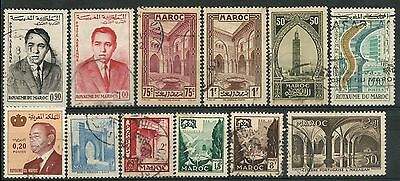 Morocco, Nice Lot Of Many Old Used Stamps -Cag 280215