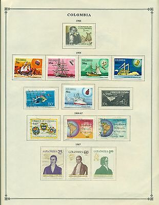 Colombia Album Page Lot #12 -  1966-1967  - SEE SCAN(S)  $$$