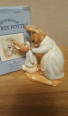 Beswick Beatrix Potter Figurines Mrs Rabbit and Peter (boxed)