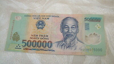 500,000 Vietnam Vietnamese Dong - Left Over Holiday Money Note - Uk Free Post