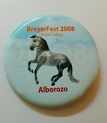 Breyerfest 2008 GLOBAL GALLOP Alborozo 3-Day Pin Collectible Button