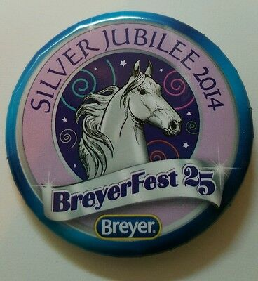 Breyerfest 2014 SILVER JUBILEE Blue 3-Day Pin Collectible Button