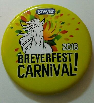 Breyerfest 2016 CARNIVAL! Yellow Green 3-Day Pin Collectible Button