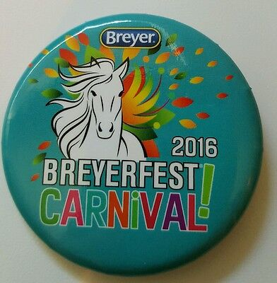 Breyerfest 2016 CARNIVAL! Blue 3-Day Pin Collectible Button
