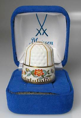 year thimble 1996 Swandecoration Meissen porcelain handpainted Germany