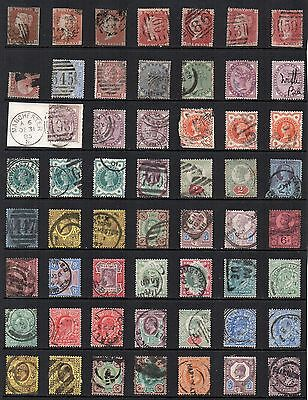 GB VICTORIA - EDWARD VII  Used STAMP Collection Ref:QDE146