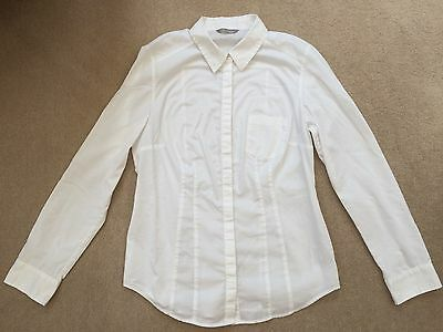M&s Woman White Blouse Size 10