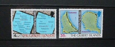 GILBERT ISLANDS 1976 Separation of Islands. Set of 2. Mint Never Hinged. SG1/2.