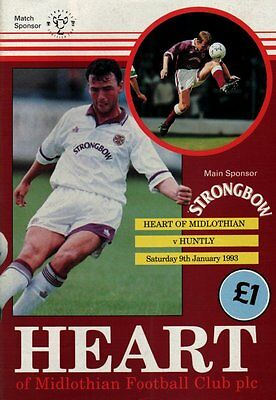 1992/93 Hearts v Huntly, Scottish Cup, PERFECT CONDITION